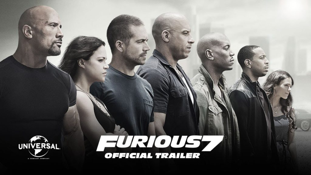 Furious 7 Directed by James Wan