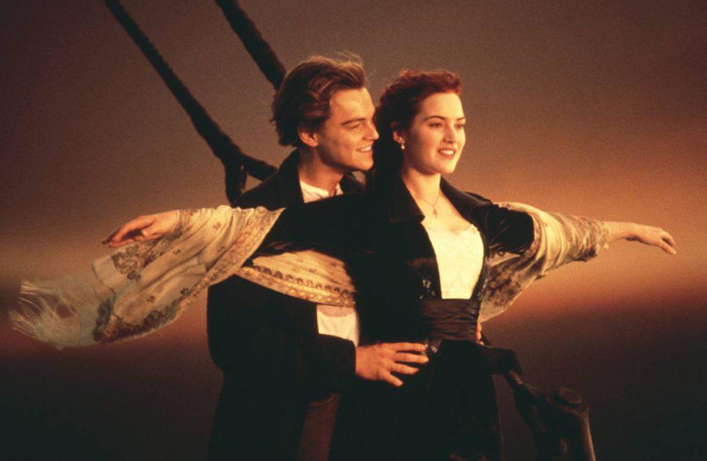 Titanic Movie Popular Pose of Rose and Jack.